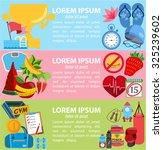 fitness infographic  sport... | Shutterstock .eps vector #325239602