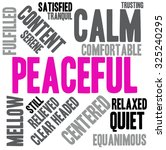 peaceful word cloud on a white... | Shutterstock .eps vector #325240295