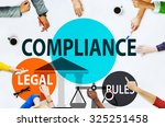 Small photo of Compliance Legal Rule Compliancy Conformity Concept