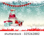 christmas greeting card  group... | Shutterstock .eps vector #325262882