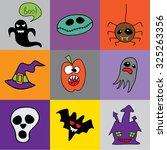 doodle halloween holiday... | Shutterstock .eps vector #325263356