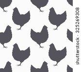 farm bird silhouette seamless...   Shutterstock .eps vector #325269308