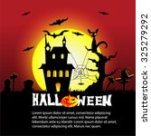halloween background with... | Shutterstock .eps vector #325279292