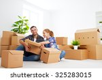 moving to a new apartment.... | Shutterstock . vector #325283015