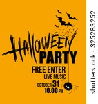 halloween party. happy holiday. ... | Shutterstock .eps vector #325283252