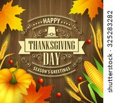 hand drawn thanksgiving... | Shutterstock .eps vector #325283282