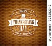 thanksgiving typography ... | Shutterstock .eps vector #325283342