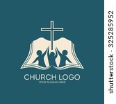 Church Logo. People With Raise...