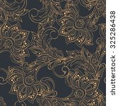 vintage pattern in indian batik ...   Shutterstock .eps vector #325286438