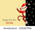 christmas and new year's card... | Shutterstock .eps vector #325287596