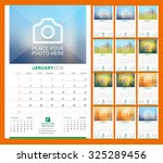 Wall Monthly Calendar For 2016...