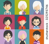 set of people icons in flat... | Shutterstock .eps vector #325293746