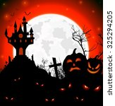 halloween scary night of... | Shutterstock . vector #325294205