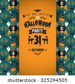 invitation to halloween party... | Shutterstock .eps vector #325294505