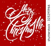 christmas card with greeting... | Shutterstock . vector #325295966