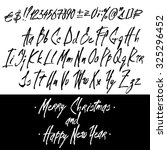 graphic calligraphy alphabet... | Shutterstock . vector #325296452