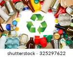 a selection of garbage for... | Shutterstock . vector #325297622