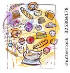 bakery sketch | Shutterstock .eps vector #325306178