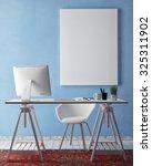 3d illustration of poster frame ... | Shutterstock . vector #325311902