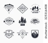 hand drawn logo set. retro... | Shutterstock .eps vector #325316408