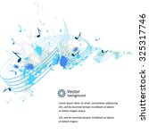 abstract musical background  ... | Shutterstock .eps vector #325317746