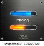 vector progress loading bar. | Shutterstock .eps vector #325320428