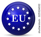 european union icon. internet... | Shutterstock . vector #325326032