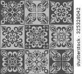 tracery patchwork pattern from... | Shutterstock . vector #325328042