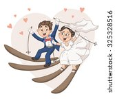 romantic greeting card with... | Shutterstock .eps vector #325328516