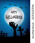 happy halloween hand out from... | Shutterstock .eps vector #325332596
