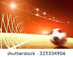 the soccer field and the bright ... | Shutterstock . vector #325334906