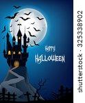 happy halloween landscape with...   Shutterstock .eps vector #325338902