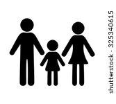 Black Vector Simple Family Icon ...