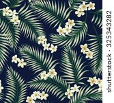 seamless exotic pattern with... | Shutterstock .eps vector #325343282