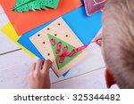 Close Up On Child Making...