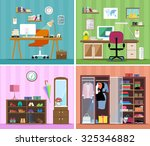 set of colorful vector interior ... | Shutterstock .eps vector #325346882