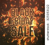 vector black friday sale... | Shutterstock .eps vector #325353122