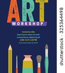 art workshop template design | Shutterstock .eps vector #325364498