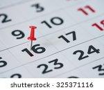 thumbtack in calendar concept...   Shutterstock . vector #325371116