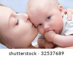 beautiful baby of five months... | Shutterstock . vector #32537689