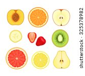various fruits and berries... | Shutterstock .eps vector #325378982