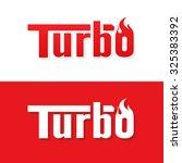 turbo text logo vector design | Shutterstock .eps vector #325383392