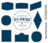 set of vintage retro shapes for ... | Shutterstock .eps vector #325383782
