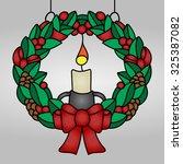 christmas stained glass for... | Shutterstock .eps vector #325387082