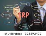 businessman writing erp... | Shutterstock . vector #325393472