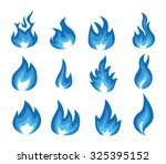 blue small flame illustration | Shutterstock .eps vector #325395152