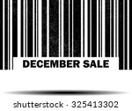 december sale with barcode and... | Shutterstock . vector #325413302