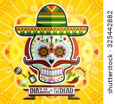 dia de los muertos day of the... | Shutterstock .eps vector #325442882