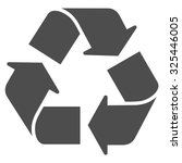 recycle vector icon. style is...   Shutterstock .eps vector #325446005