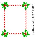 retro striped frame with red... | Shutterstock . vector #325448822